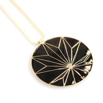 Atida Black and Gold Sunset Necklace