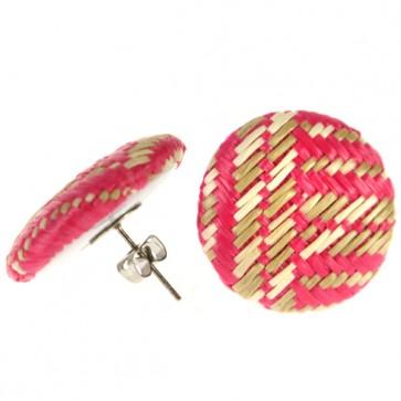 Atida Exclusive Pink Woven Statement Earrings