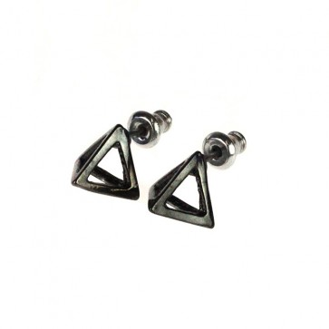 Atida Exclusive Steel Pyramids Earrings Gunmetal
