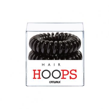 Hair Hoops Black x 4