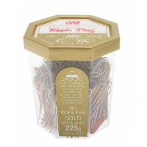 555 Ripple Pins 2 inch Gold 225g