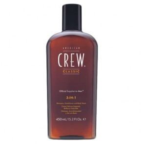 American Crew 3-in-1 Shampoo Conditioner and Bodywash 450ml