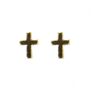 Atida Cross in Gold Studs