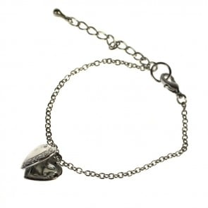 Atida Silver Heart Locket Bracelet