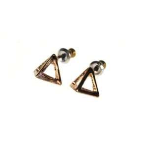 Atida Exclusive Steel Pyramids Earrings Bronze
