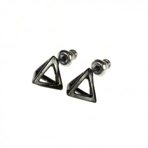 Atida Exclusive Steel Pyramids Earrings Gunmetal
