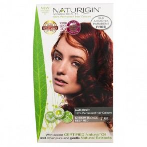 Naturigin Organic Hair Colour 7.55 Medium Blonde Deep Red