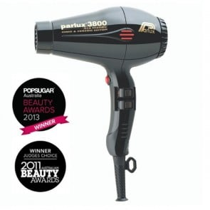 Parlux 3800 Eco Friendly Ceramic & Ionic Dryer 2100W - Black
