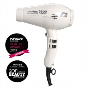 Parlux 3800 Eco Friendly Ceramic & Ionic Dryer 2100W - White