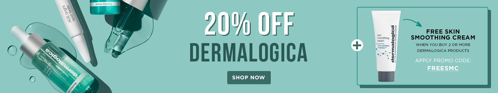 Dermalogica 20% OFF + Free Gift