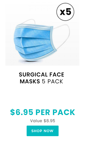 Disposable Face Masks 5 Pack